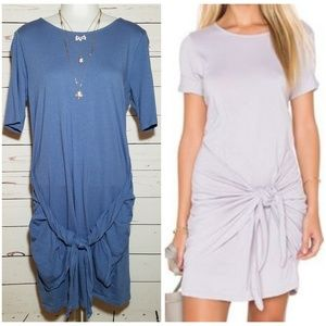 Michael Stars cotton modal faux wrap tunic dress